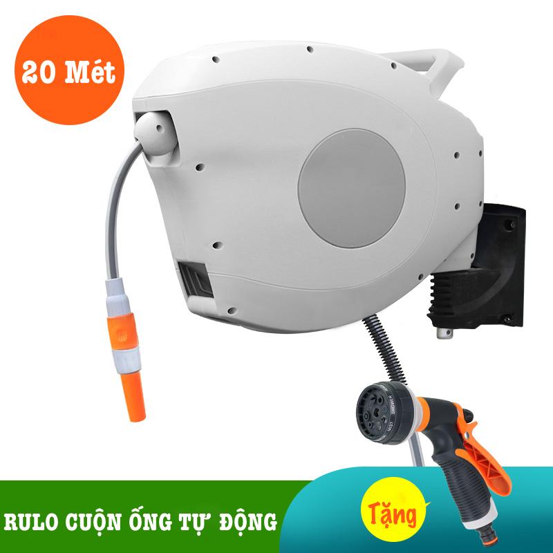 Bộ vòi tưới cây, rửa xe LionKing 20 Mét HRW-20 (PHIÊN BẢN CAO CẤP) - Rulo thu cuộn ống nước tự động