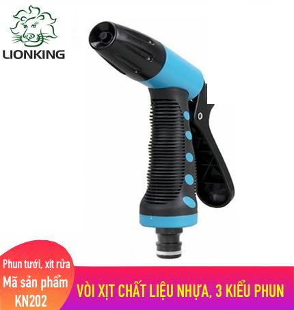 Vòi phun tưới LionKing KN202 - làm bằng chất liệu nhựa có 3 kiểu phun