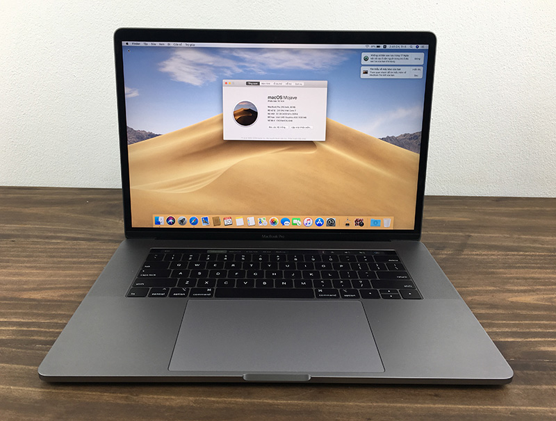 Macbook Pro 15 inch 2018 Gray (MR942) - i7 2.6/ 16G/ 512G - Applecare 2022 - Newseal