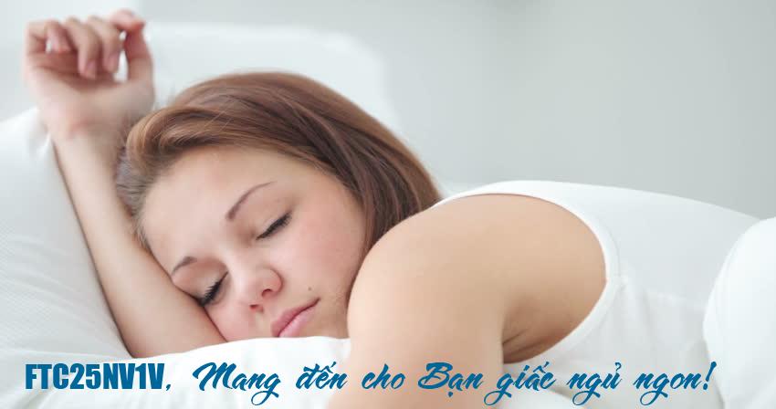 Chế độ gió dịu êm mang lại giấc ngủ ngon cho bạn