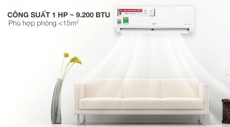 Điều hòa LG 9000BTU 1 chiều inverter V10ENWV-thiết kế đẹp mắt,đơn giản