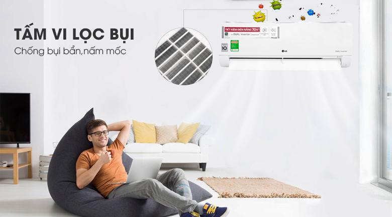 Tấm vi lọc bụi-Điều hòa LG 9000BTU 1 chiều inverter V10ENWV