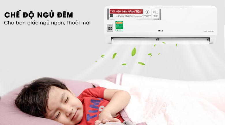chế độ ngủ đêm-Điều hòa LG 9000BTU 1 chiều inverter V10ENWV