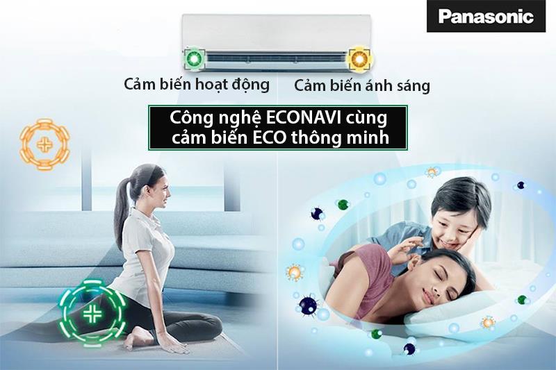 Công nghệ Econavi với tính năng cảm biến chính xác tiết kiệm điện năng