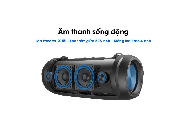 Loa Bluetooth W-King D3 Pro thiết kế đeo vai hiện đại, phá cách dientuduchieu.com