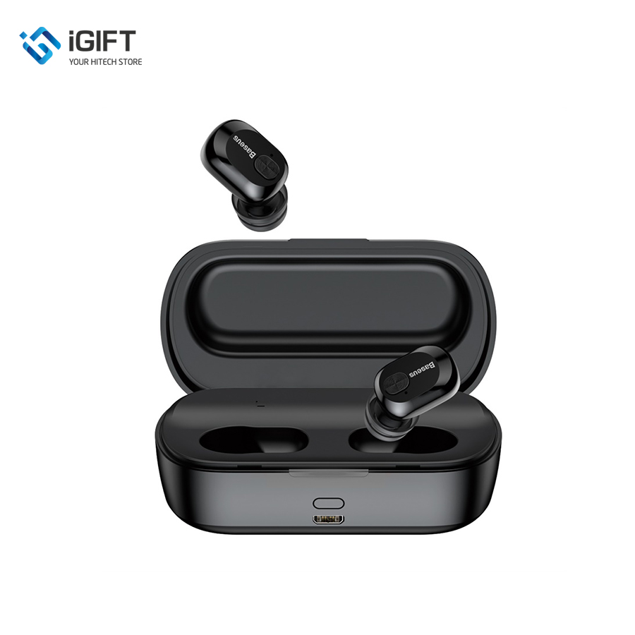 Tai nghe True Wireless Baseus Encock W01 Earphones ( TWS, Bluetooth V5.0, Waterproof, Charging Case )