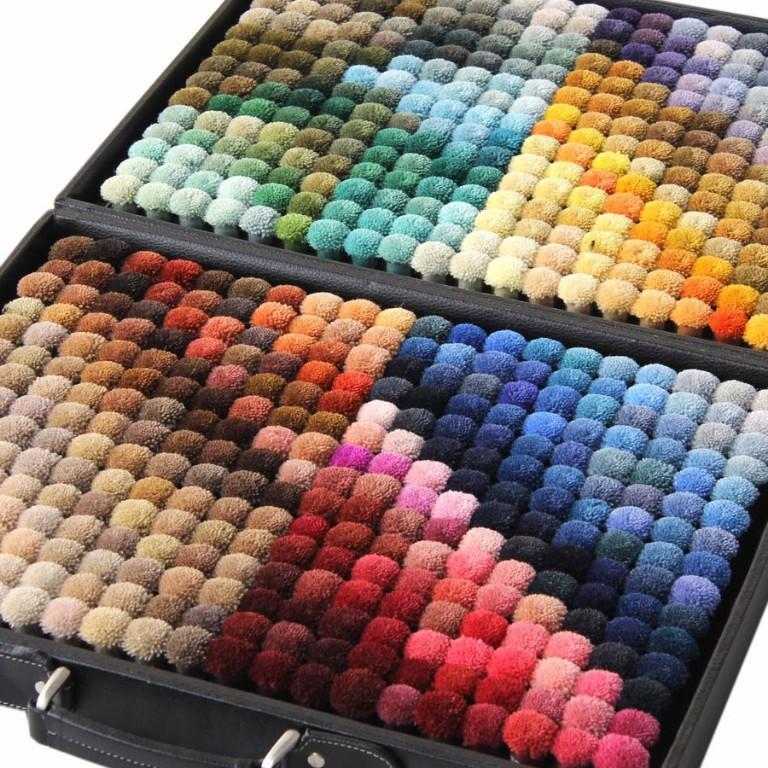 Thảm dệt thủ công Acrylic_ bảng màu