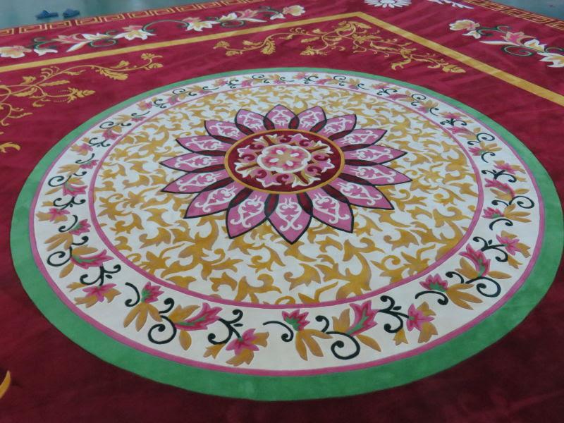 Thảm dệt thủ công Acrylic_ hoàn thiện