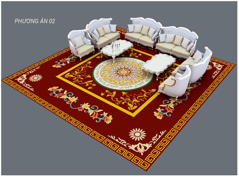 Thảm trang trí phòng khách Acrylic Dự án   Tham trai san