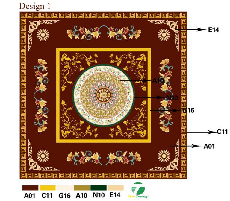 Thảm dệt thủ công Acrylic_ ý tưởng thiết kế 1