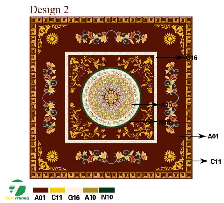 Thảm dệt thủ công Acrylic_ ý tưởng thiết kế 2