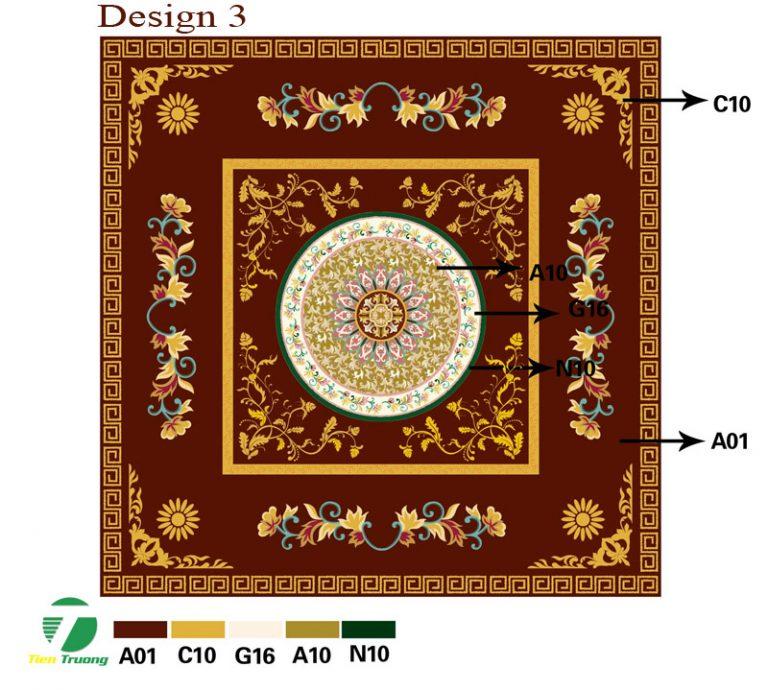 Thảm dệt thủ công Acrylic_ ý tưởng thiết kế 3