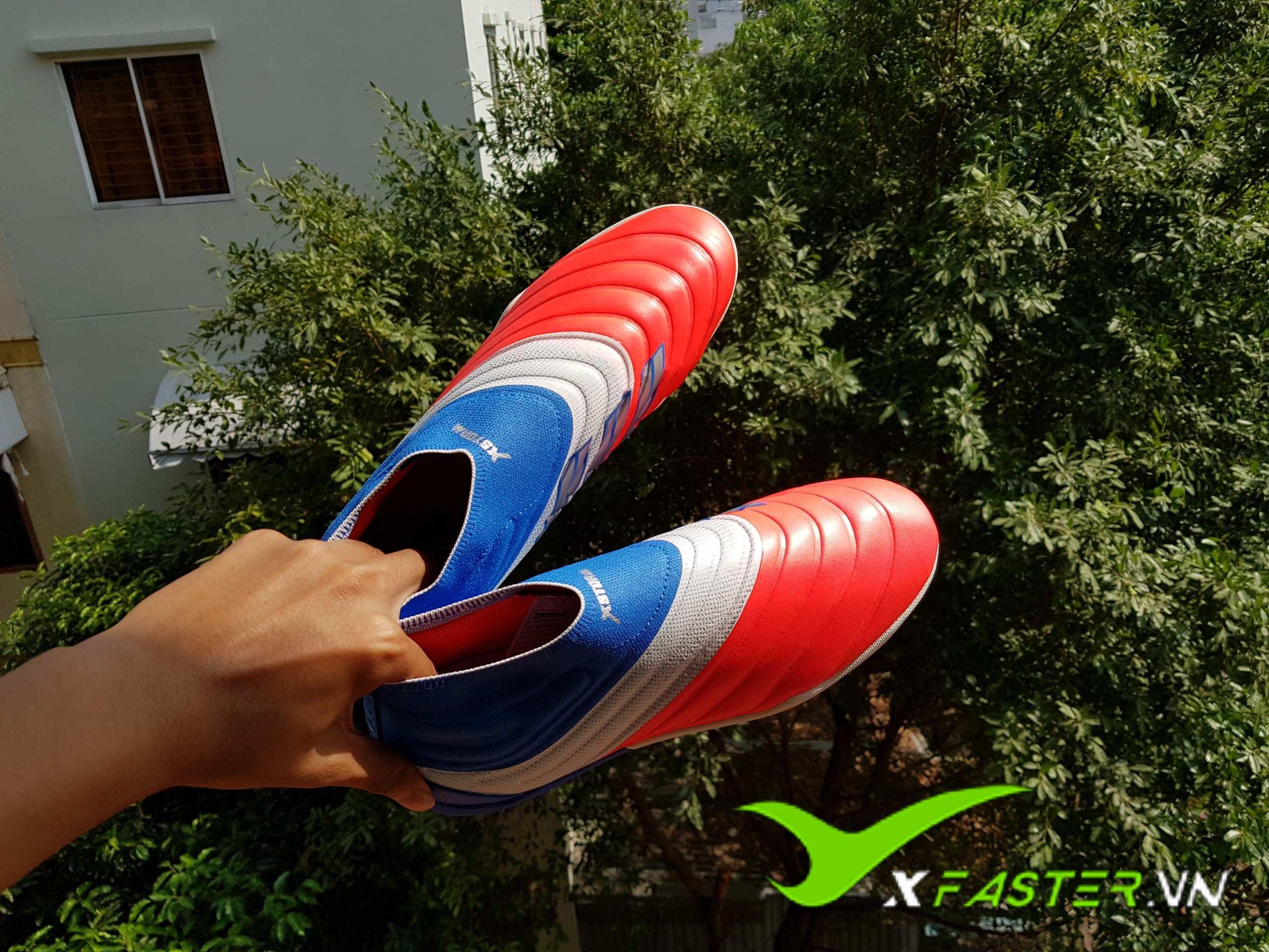 Giày đá bóng xfaster Copa không dây Xanh-Đỏ Mới