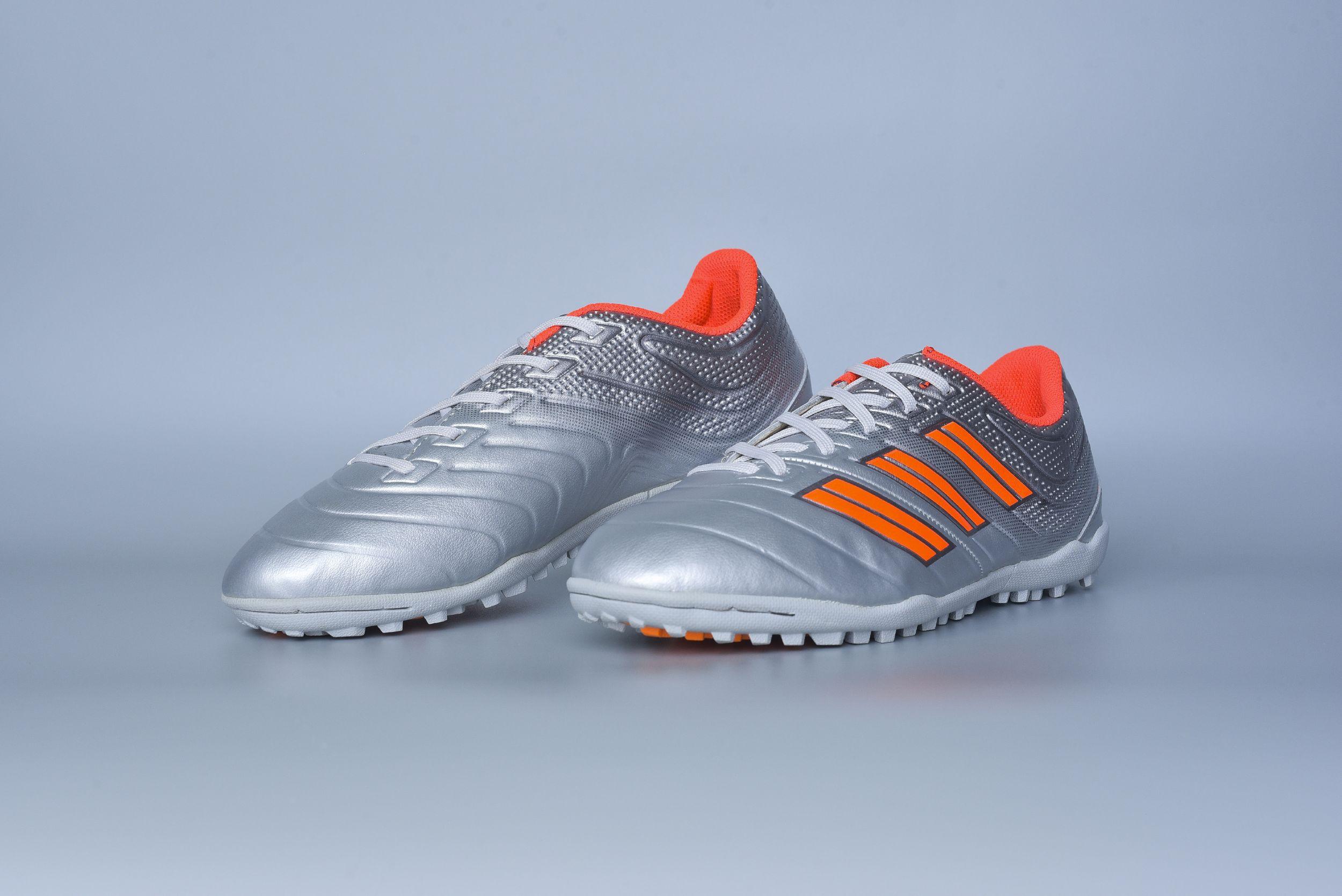 Giày đá bóng Xfaster Copa Bạc/Sọc Cam