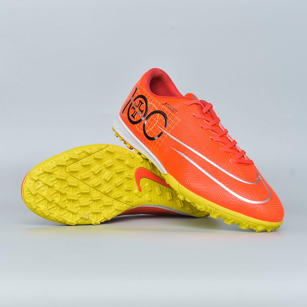 Giày đá bóng Xfaster CR7-100 - Đỏ-Bạc-Đồng