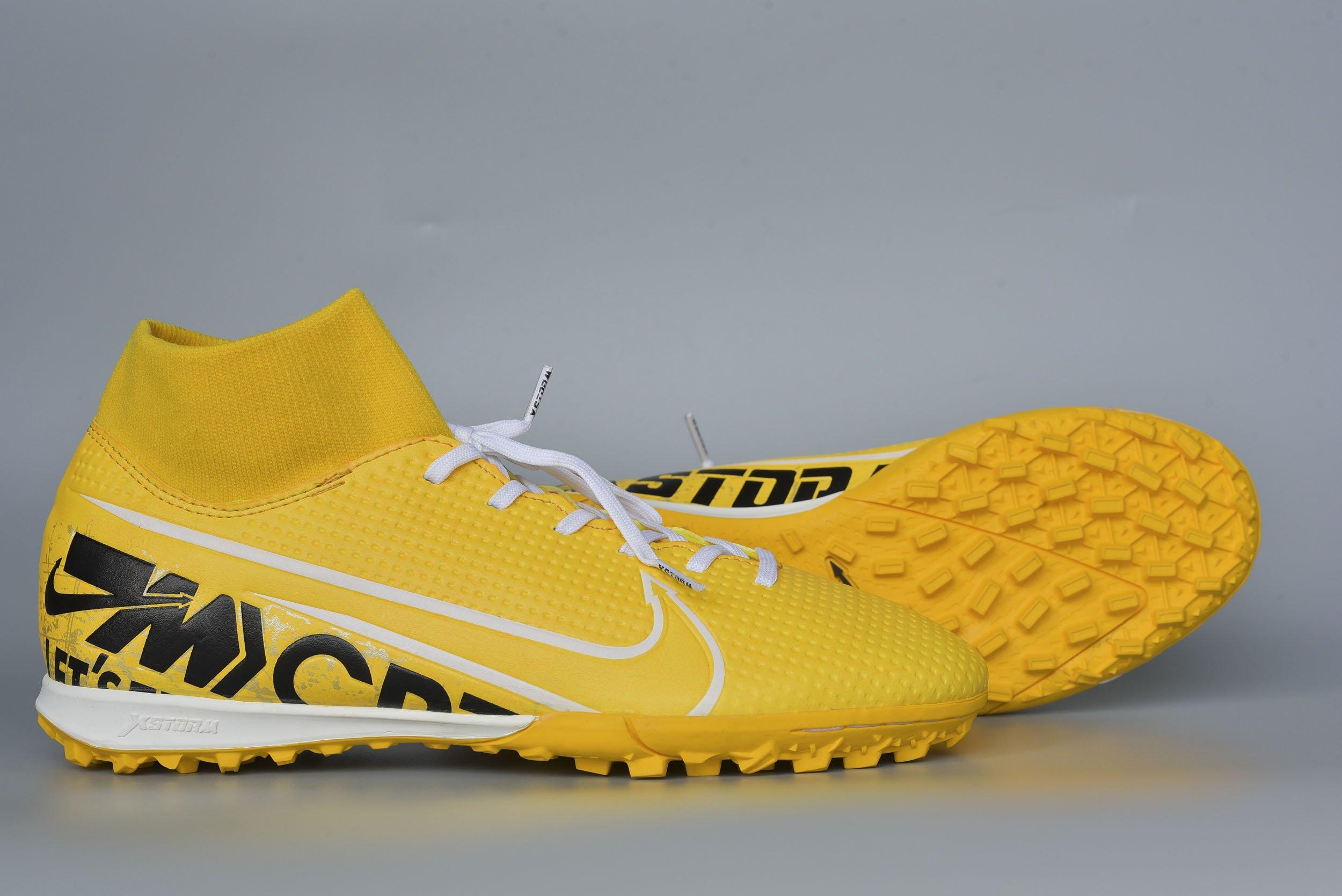 Giày đá banh Xfaster CRXX Cổ Dệt - Vàng