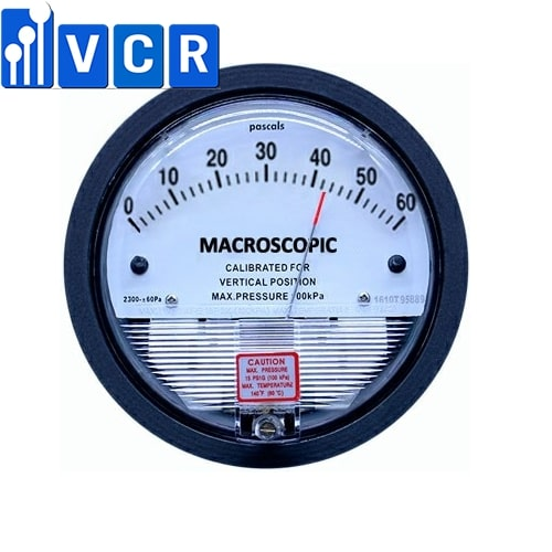 VCR differential pressure gauge