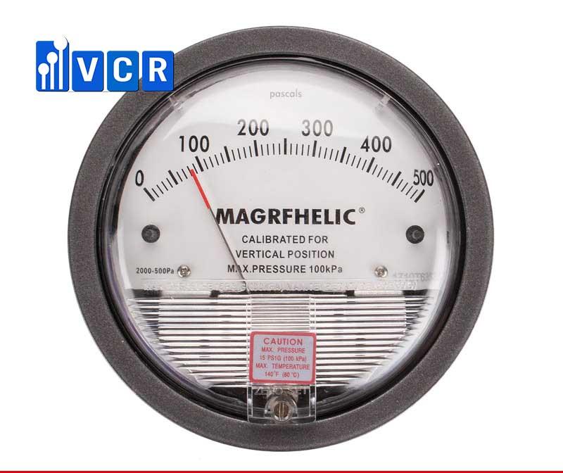 Đồng hồ chênh áp 0 - 500Pa