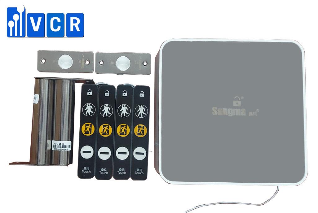 Khóa liên động đôi SANGMA màn hình cảm ứng cho cửa thép