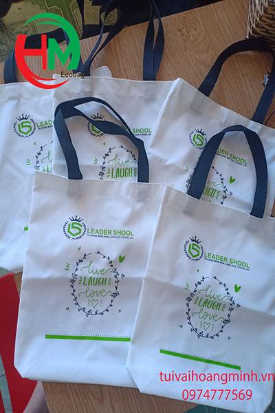 Túi vải bố quà tặng trường mầm non LEADER SCHOOL