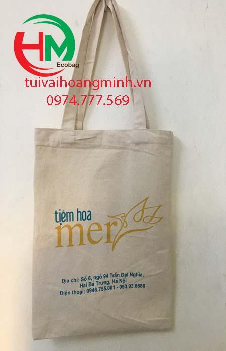 Túi vải bố khai trương Tiệm hoa Merss