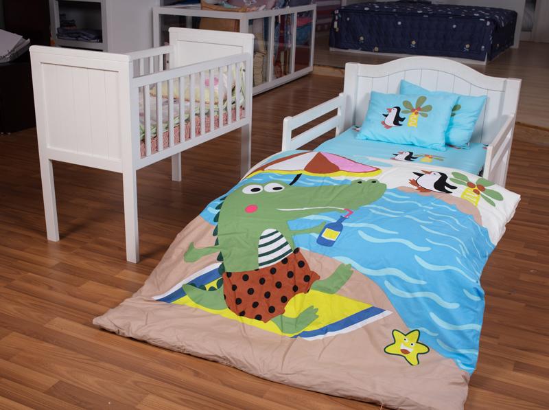 Bộ chăn ga gối Baby - Cá sấu