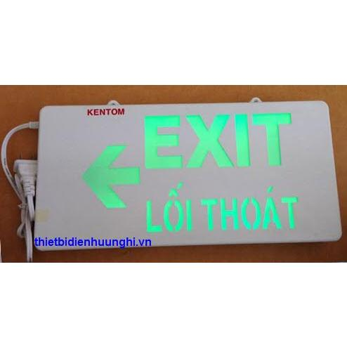 Đèn Exit KenTom KT710 ( Đèn lối thoát KenTom KT-710 gắn tường 1 mặt )