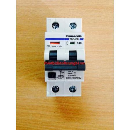 Cầu dao tự động Panasonic RCBO 2P/50A-63A