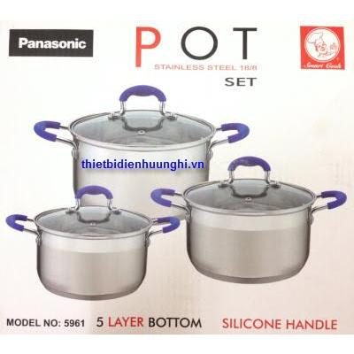 Bộ nồi bếp điện từ Smart Cook 5961 ( đáy 5 lớp )