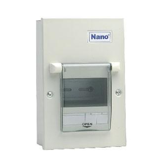 Vỏ tủ điện Nano NDP104 ( Tủ điện thép âm tường 4 nhánh MCB )