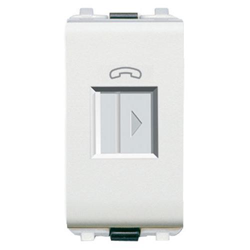 Ổ cắm điện thoại Schneider 8431SRJ4-WE-G19 ( Ổ cắm điện thoại RJ45 dòng zencelo A màu trắng )