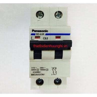 Cầu dao tự động Panasonic 2 tép 50A - 63A