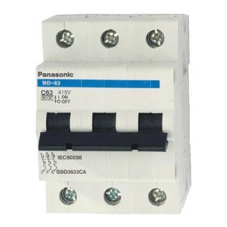 MCB Panasonic 3 tép 80A ( Cầu dao tự động Panasonic 3 cực chống quá tải 80A )
