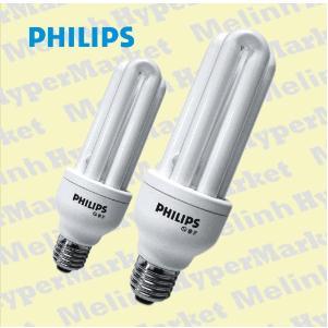 Bóng đèn compact Philips 3U - 14W ( Bóng đèn huỳnh quang Philips 3U / 14W chân vặn E27 )
