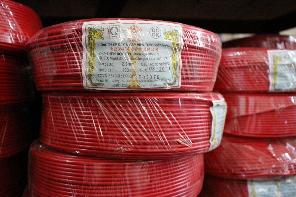 Dây điện đơn mềm TAYA  1mm (  PVC CV1.0 )
