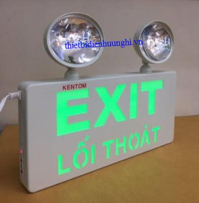 Đèn khẩn cấp Exit KenTom KT - 730 ( Đèn khẩn cấp 2 bóng x 3W + đèn exit led 3W )