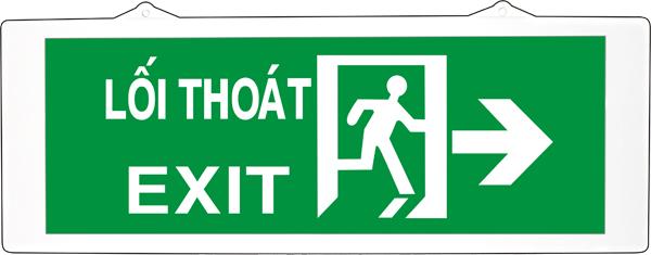 Đèn exit KenTom KT-630 gắn tường 1 mặt ( Đèn lối thoát KenTom KT-630 gắn tường 1 mặt )