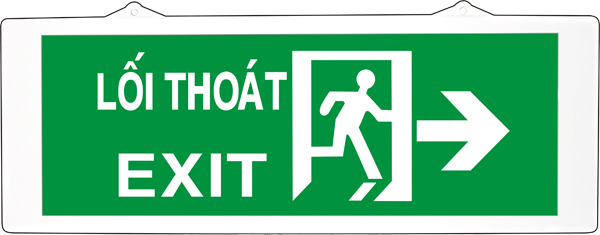 Đèn exit Kentom KT-640 gắn tường 2 mặt ( Đèn lối thoát Kentpm KT-640 2 mặt gắn tường )