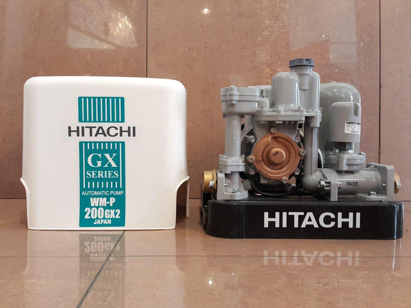 Máy bơm nước tăng áp Hitachi WM-P150GX2 ( Máy bơm nước tăng áp tự động 150W dạng thùng vuông )