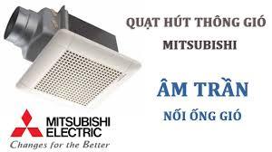 Quạt thông gió Mitsubishi VD-15Z4T6 ( Quạt hút gió Mitsubishi có ống dẫn 100mm gắn âm trần, luu lượng 157CMH )