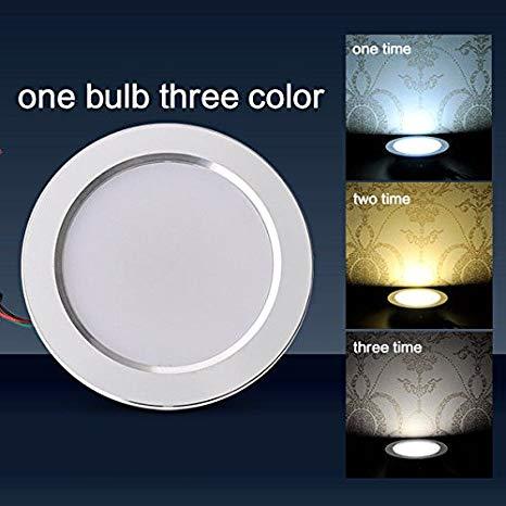 Đèn led downlight 9W chuyển 3 màu NSD09C1 ( Đèn led 9W gắn âm trần chuyển đổi 3 màu ánh sáng )