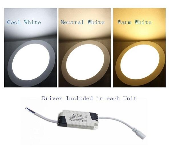 Đèn led downlight 12W chuyển 3 màu NSD12C1 ( Đèn led 12W gắn âm trần chuyển đổi 3 màu ánh sáng )