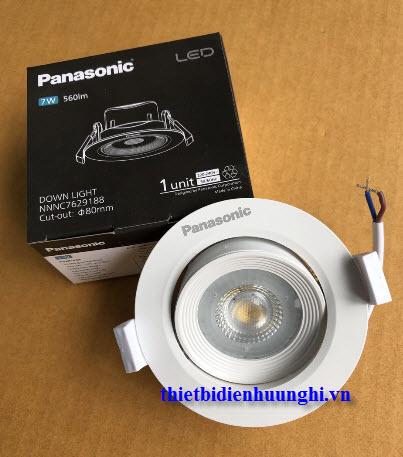 Đèn led downlight Panasonic NNNC7624188 xoay góc chiếu 7W ( Đèn led âm trần Panasonic NNNC7624188 xoay góc chiếu 7W )