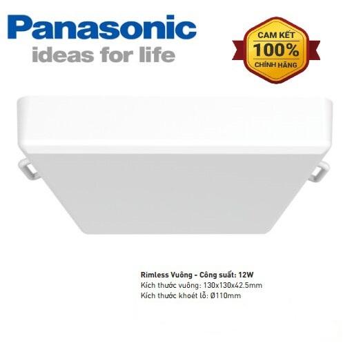 Đèn led âm trần Panasonic rimless NNNC7621488 12W vuông - Đèn led downlight Panasonic rimless NNNC7621488 12W vuông