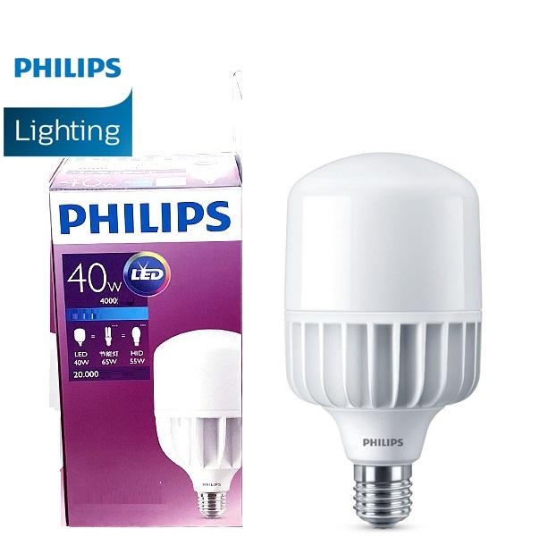 Bóng đèn led Philips TForce 40W ( Bóng led trụ Philips HB công suất 40W )