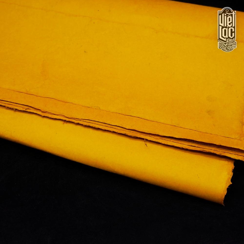 Giấy Long Đằng vàng làm sắc phong khổ 125*60cm