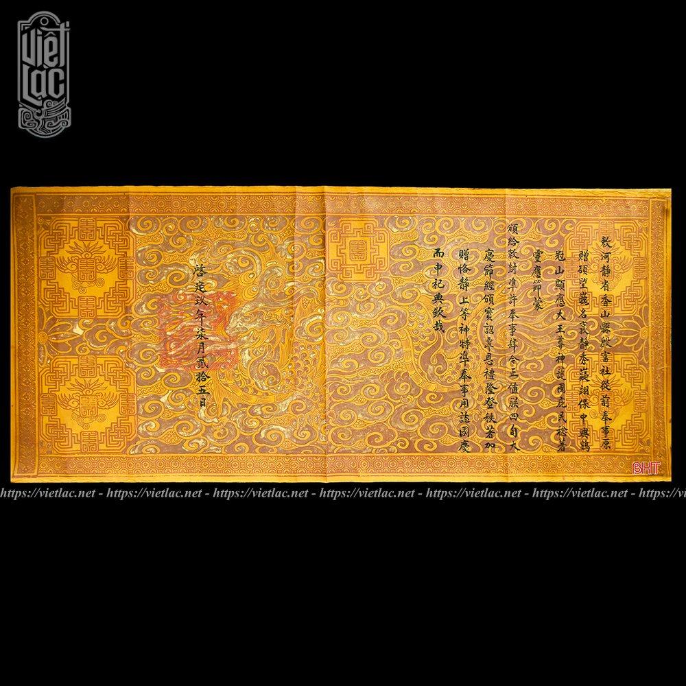 Phôi sắc phong thượng đẳng thần triều Nguyễn niên hiệu Khải Định năm thứ 9