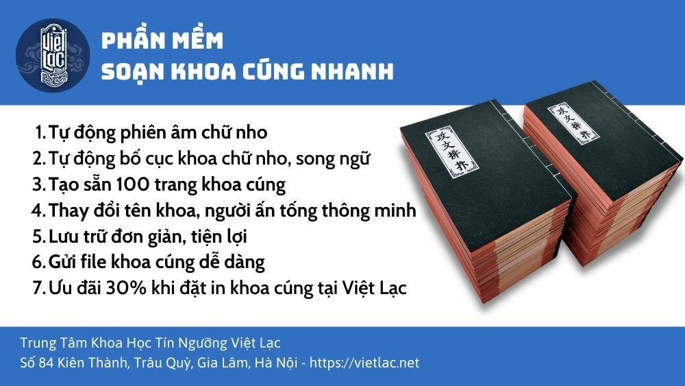Phần mềm soạn khoa cúng phiên dịch tự động Việt Lạc