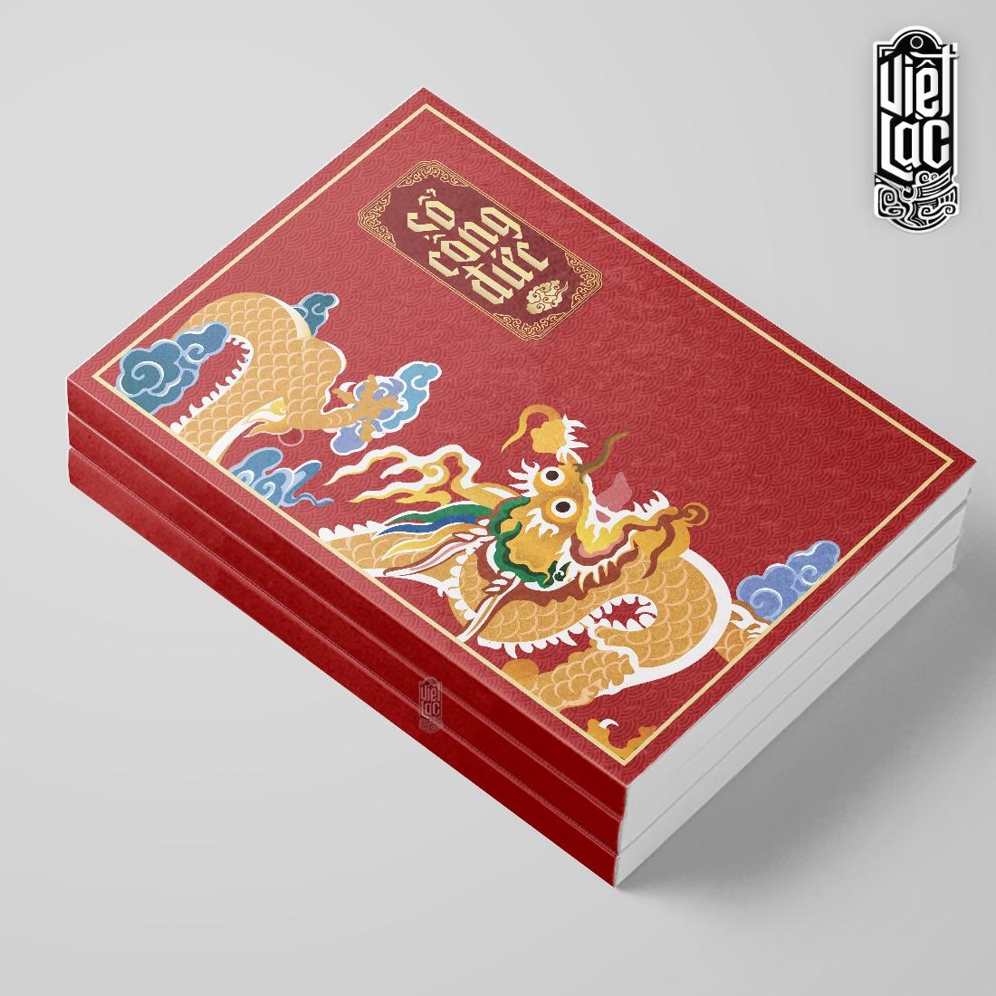 Sổ ghi công đức khổ A4 168 trang bìa đỏ Việt Lạc