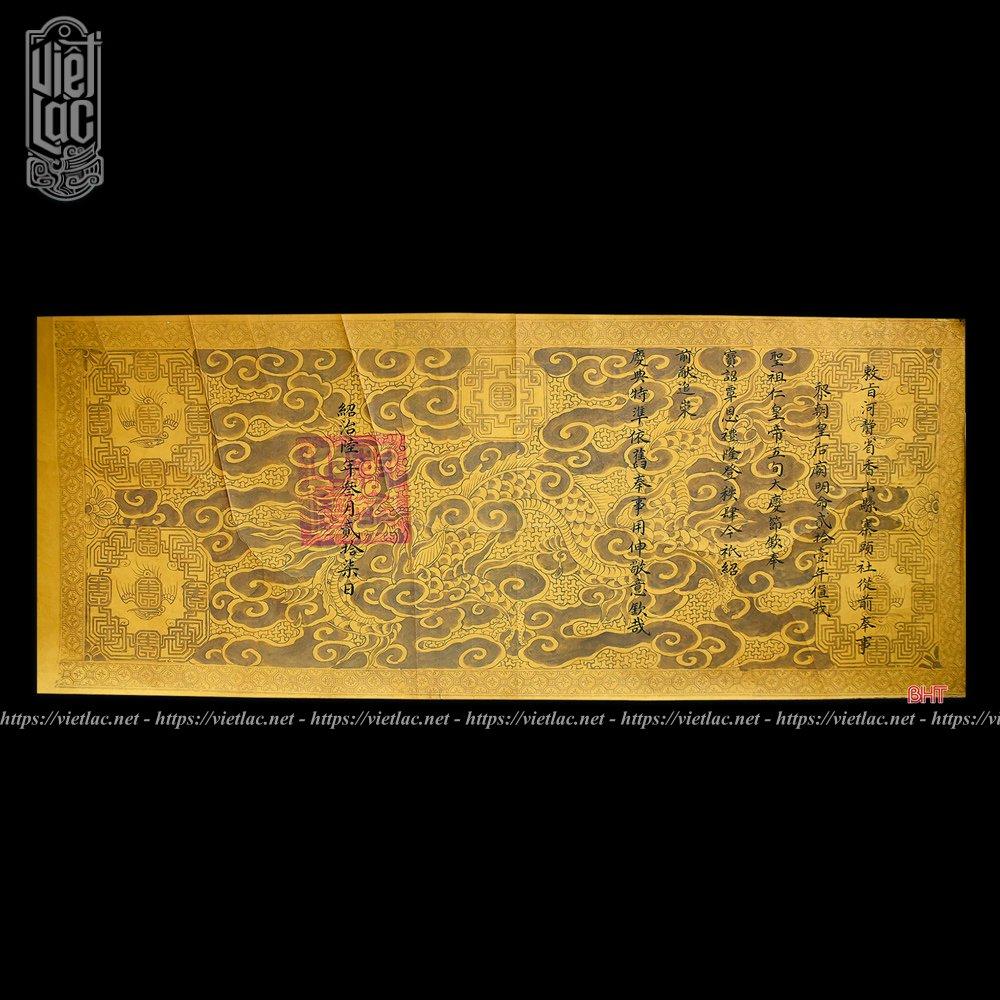 Phôi sắc phong thượng đẳng thần triều Nguyễn niên hiệu Thiệu Trị năm thứ 6